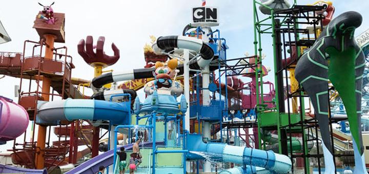Скидка до 28% на посещение аквапарка «Amazone Cartoon Network» в Паттайе