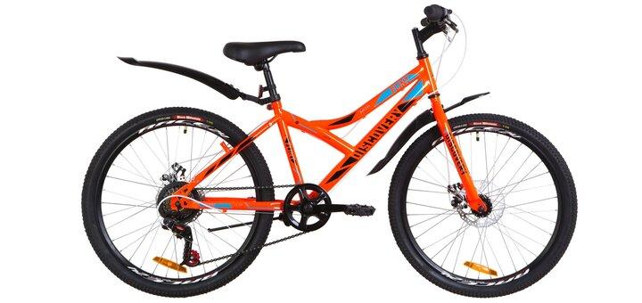 Велосипед подростковый «24 Discovery FLINT 2019» - Велокомпьютер в подарок