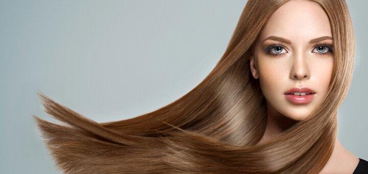 Кератиновое выпрямление волос со стрижкой кончиков волос и укладкой от Игоря Малашкевича