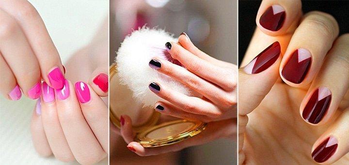 Безупречные ногтики! Обрезной классический маникюр и педикюр с покрытием гель-лаком в салоне красоты «Кураж» от 78 грн.!