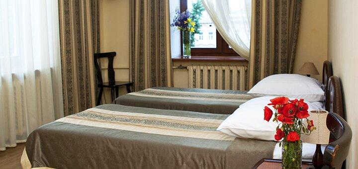 От 2 дней отдыха осенью с завтраками в отеле «Відень» в самом центре Львова