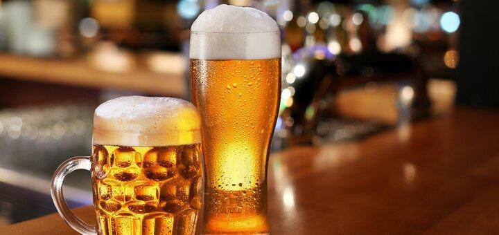 Скидка 50% на второй литр пива!