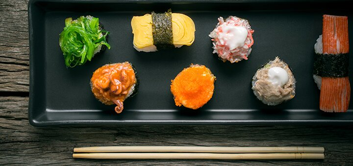 Скидка 50% на все меню на самовывоз от «SushiGo»