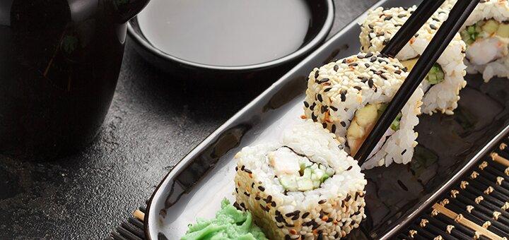 Скидка 30% на все меню в суши-баре «Золотой дракон»