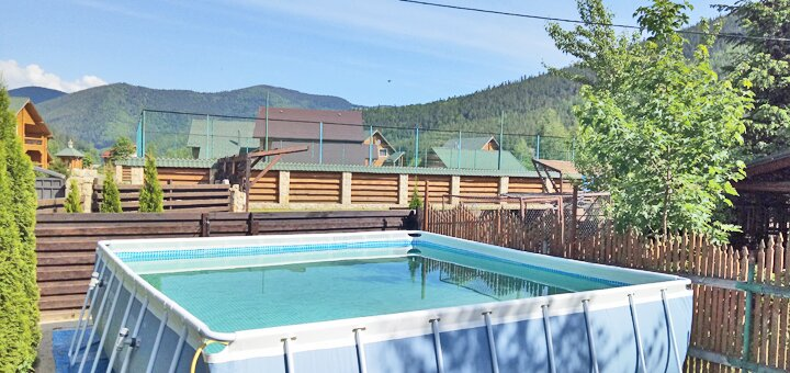 От 3 дней отдыха в отдельном коттедже с бассейном в комплексе «Wood house» в Татарове
