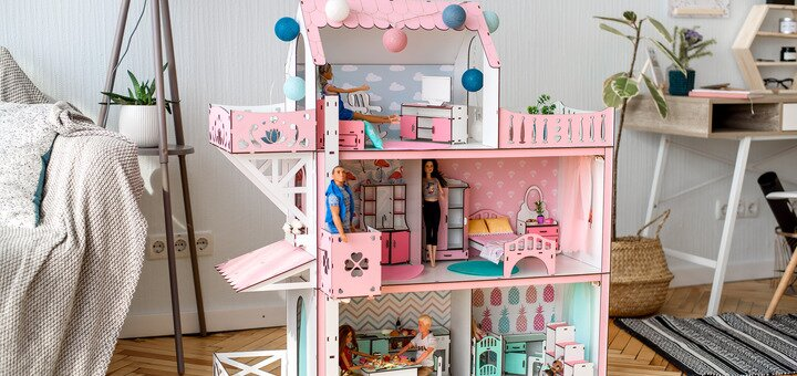 При покупке любого кукольного домика NestWood - набор мебели в подарок!