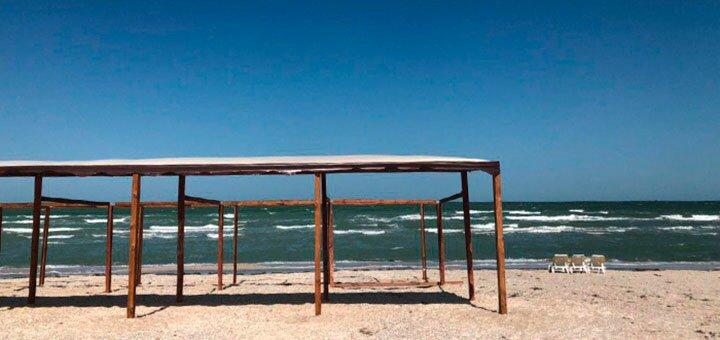 От 3 дней отдыха в июне в курортном комплексе с бассейном «Чайка» на Арабатской Стрелке