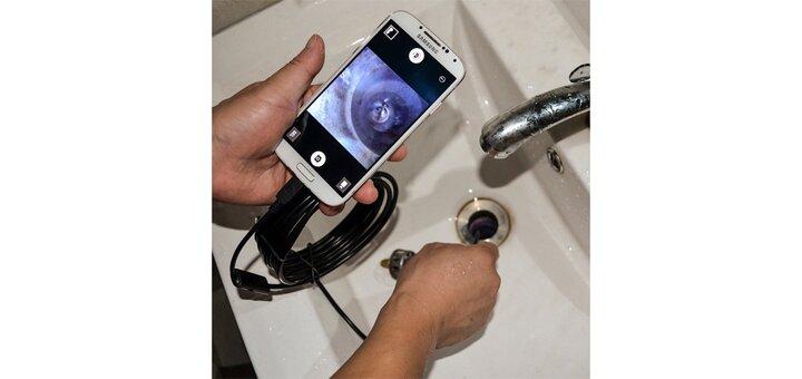 Скидка 200 грн. на водонепроницаемый эндоскоп для телефона
