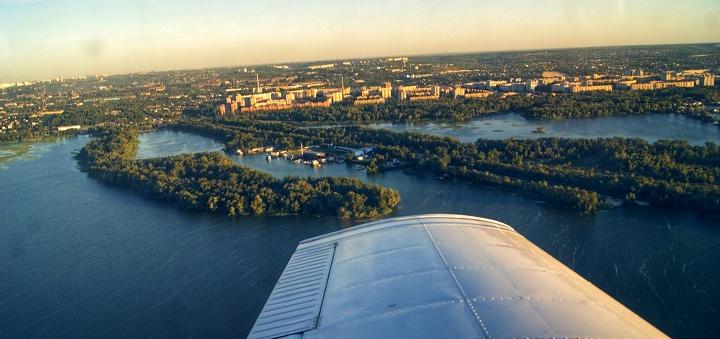 Скидка 20% на обзорный полёт на самолете над Днепром от компании «Sky&Fly.ua»