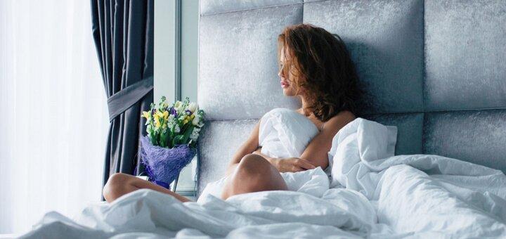Скидка 15% на все одеяла и подушки в мабране принт