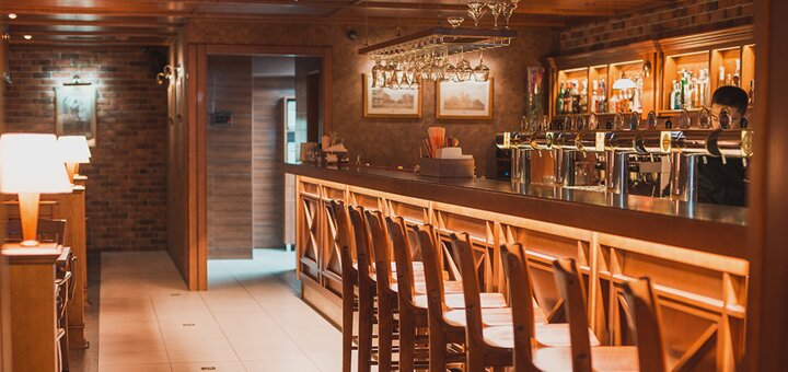 Скидка 50% на все меню кухни и 30% скидки на разливное пиво в пивном ресторане «БирХаус»