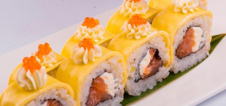 Скидка 50% на все суши, роллы и сеты в sushi place «Red Fish» на Глинки