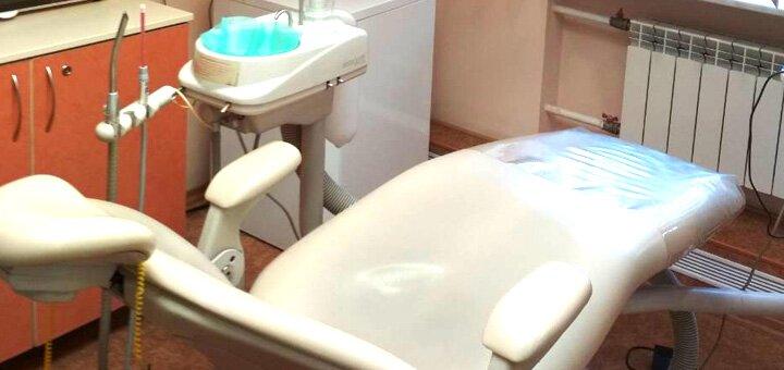 Лечение кариеса с установкой фотополимерной пломбы в стоматологической клинике на Гагарина