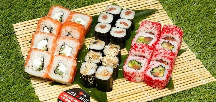 Скидка 40% на сет «Big Party» в суши-баре «Sushi N Rolls»