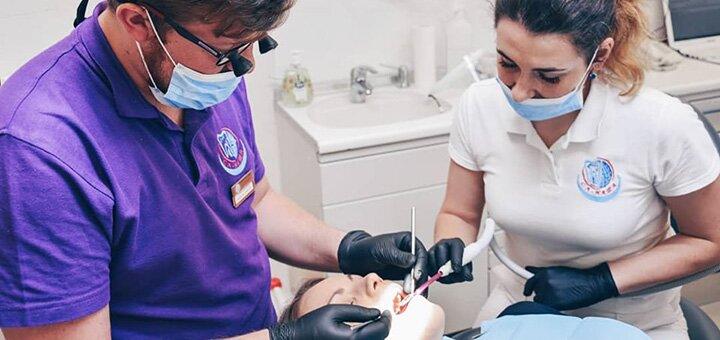 Ультразвуковая чистка зубных отложений, Air Flow, полировка зубов пастами в клинике «СА-НАТА»