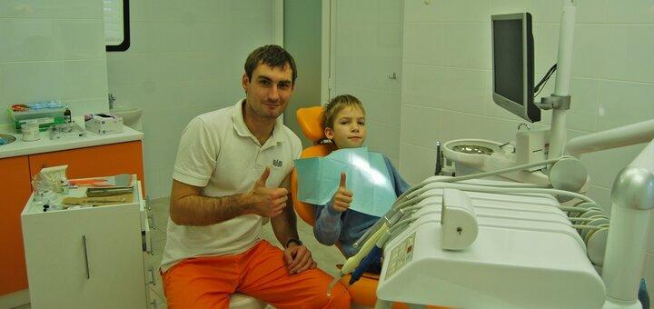 Ультразвуковая чистка зубов в стоматологической клинике «Happy Сlinic»