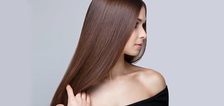 Кератиновое выпрямление волос любой длины в салоне «Супермаркет красоты»