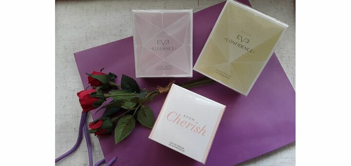 Скидка 40% на женскую парфюмерию серий Avon EVE и Avon Cherish