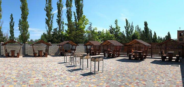 От 2 дней проживания в сентябре на базе отдыха с бассейном «Аквамарин» в Коблево