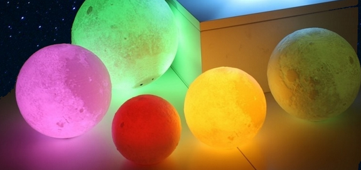 Скидка 28% на настольный ночник 3D Moon Lamp Original от «Vtrende VV»