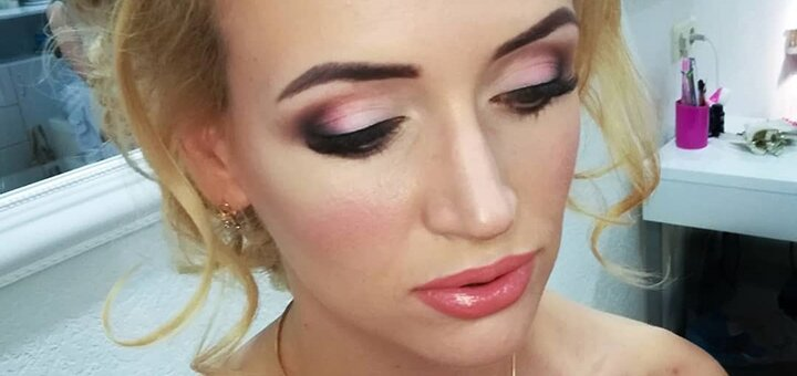 Профессиональный дневной, вечерний или праздничный макияж в студии красоты «Lash i visage»