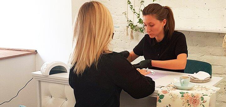 Маникюр, покрытие гель-лаком c парафинотерапией в салоне красоты «Beautygate»