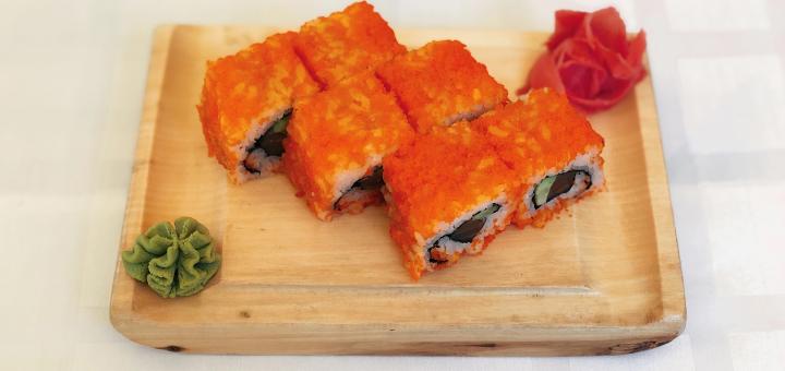 Скидка 50% на всё меню кухни, пиццу и суши в ресторане «Napoli»