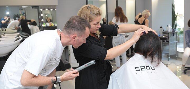 Женская или мужская стрижка для волос любой длины в салоне красоты «CUT ONE»