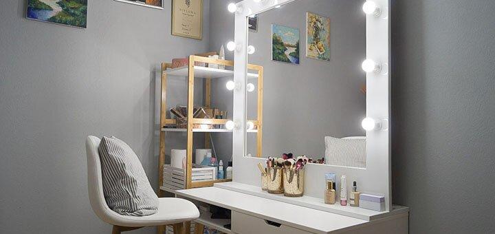 Нанесение макияжа и экспресс обучение «Сама себе визажист» в студии Татьяны Шипиловой