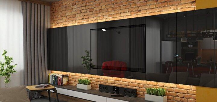 Скидка 84% на индивидуальный дизайн-проект жилого помещения от «Status DS»