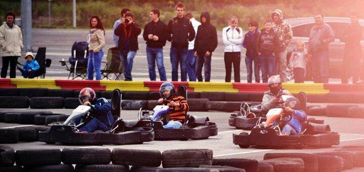 Скидка 60% на 10 кругов на картинге в «Rider Kart»