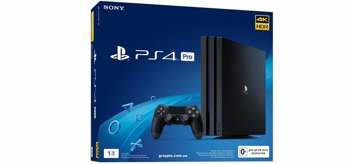 Скидка 700 гривен на PlayStation 4 Pro 1Tb Rus Black (CUH-7208B) от «Грейпл»