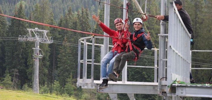 Экстремальные развлечения в Буковели от компании «Roller Coaster zipline»
