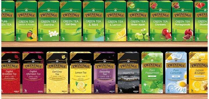 Скидки от 5% до 20% на чай чай Twinings от «T-coffee»