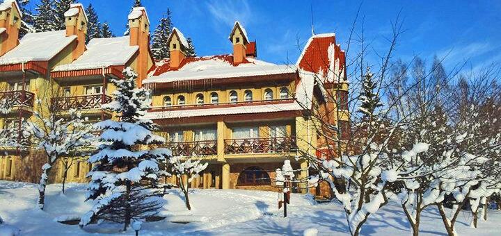 От 3 дней отдыха с питанием и бильярдом в отеле «Перлина Карпат» в Славском