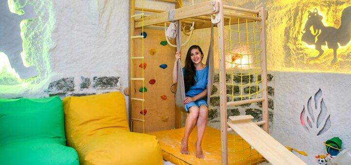 До 5 посещений соляной комнаты для взрослого и ребенка до 2 лет в «Соляная пещера на Оболони»