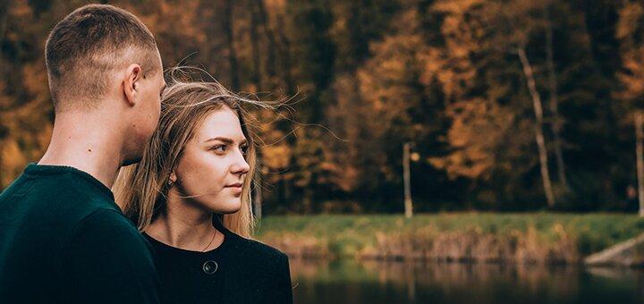 До 2 часов осенней фотосессии для двоих от фотографа Эвелины Мриль
