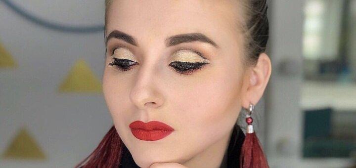 Профессиональный дневной или вечерний макияж от визажиста Марины Славатинской