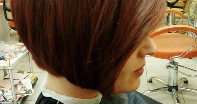 Полировка волос с контурной стрижкой и укладкой в «Гламур»