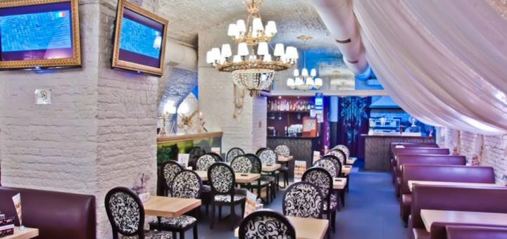 Скидка 50% на все меню кухни в семейном ресторане «Mafia» на Квитки-Основьяненко