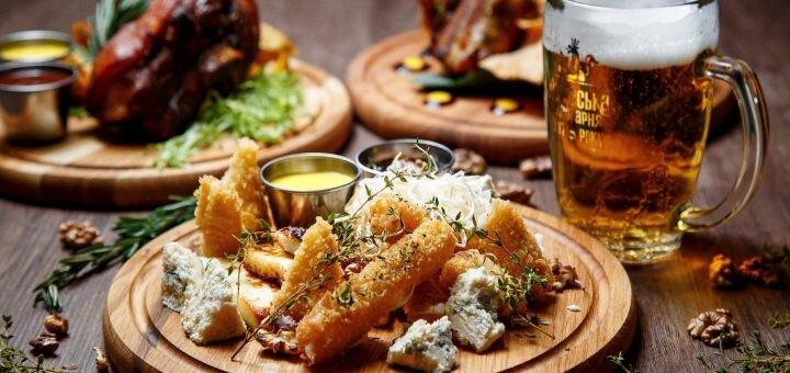 Скидка 50% на всё меню кухни и бара в гастро-пабе «Kontora»
