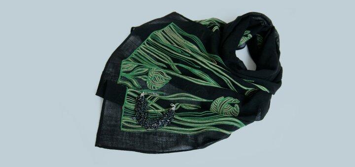 При покупке любой шали - в подарок браслет-паутинка с натуральными камнями
