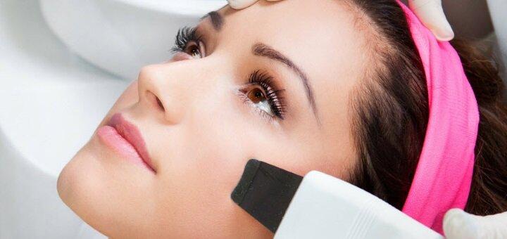 До 3 сеансов ультразвуковой чистки лица с пилингом в косметологическом кабинете Светланы Матяш