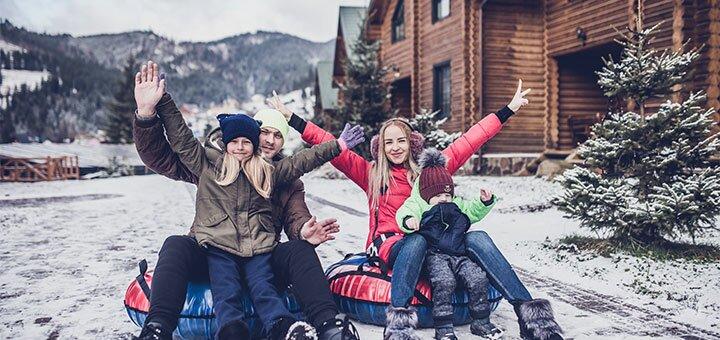 От 3 дней зимнего отдыха в семейном эко-отеле «Красна Поляна» с видом на Карпаты в Буковеле