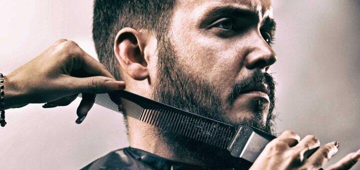 Мужская стрижка, коррекция усов и бороды от мужского мастера Резниченко Юлии