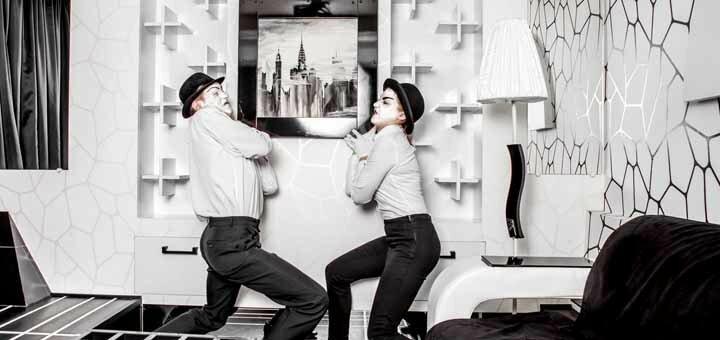 Посещение квест-комнаты «Черно-белая история» от квеструма «Anabioz»