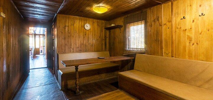 3 часа отдыха в бане «Корабль» с прямым выходом к заливу Днепра в комплексе отдыха «Причал»