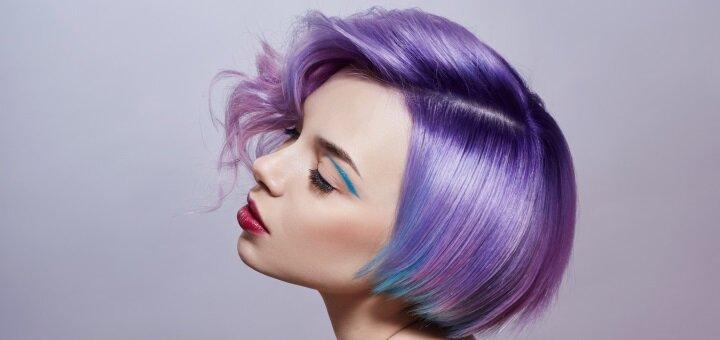Женская или мужская модельная стрижка, окрашивание и тонирование волос в салоне красоты «ViVi»
