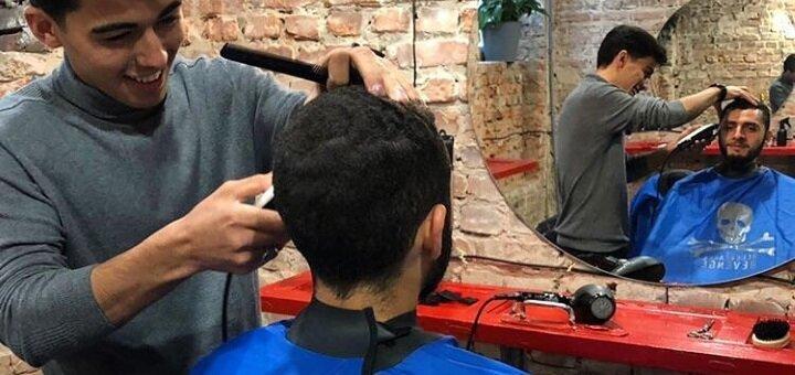 Мужская или детская стрижка, моделирование бороды, услуга «Отец, борода и сын» от «BLUEBERRY»