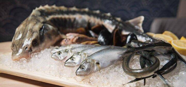 Сертификат на все меню кухни в рыбном ресторане «Причал 14»